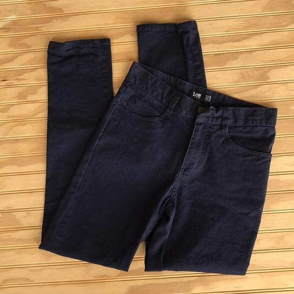 99e131b8e169 Men's Navy Blue Skinny Leg 5-Pocket Casual Pants. Lee.  M_5bb3e59ec617773db131dd40. M_5bb3e5a08ad2f9bd2504c96c.  M_5bb3e4e3c61777a2ba31d8b0